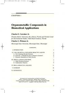 Organometallic Compounds in Biomedical Applications - Wiley