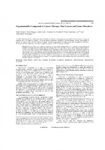 Organometallic Compounds in Cancer Therapy