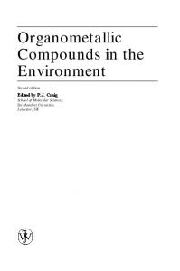 Organometallic Compounds in the Environment, 2nd ...