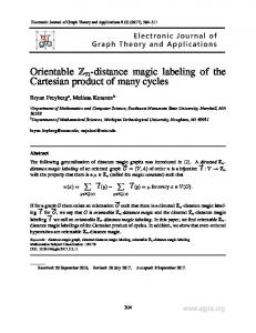 Orientable Zn-distance magic labeling of the Cartesian product ... - Neliti