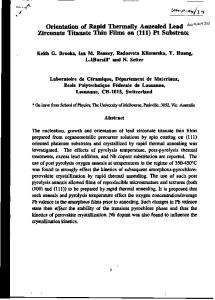 Orientation of Rapid Thermally Annealed Lead ^^^ Zirconate Titanate ...