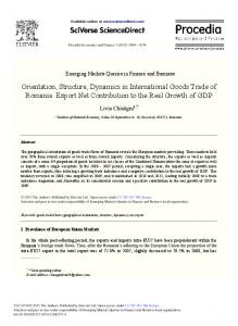 Orientation, Structure, Dynamics in International ... - Science Direct