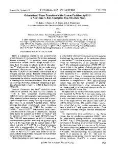 Orientational Phase Transition in the System ... - APS Link Manager