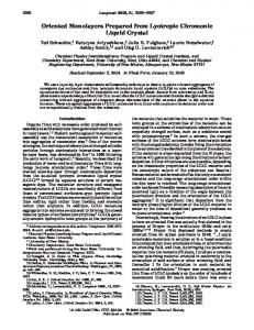 Oriented Monolayers Prepared from Lyotropic ... - ACS Publications