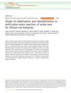 Origin of stabilization and destabilization in solid-state redox reaction