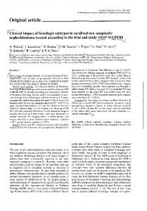 Original article Clinical impact of histologic subtypes ...