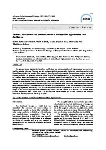 ORIGINAL ARTICLE Isolation, Purification and characterization ... - aensi