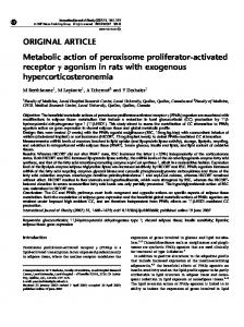 ORIGINAL ARTICLE Metabolic action of peroxisome proliferator
