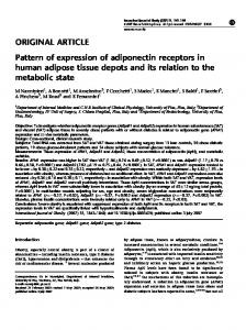ORIGINAL ARTICLE Pattern of expression of adiponectin receptors in ...