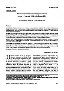 Original Article Seroprevalence of helicobacter pylori infection among ...
