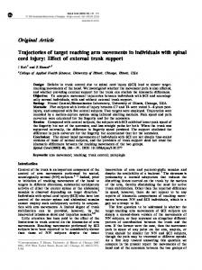 Original Article Trajectories of target reaching arm movements ... - Nature