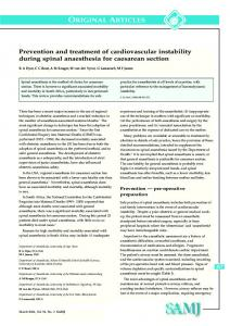 ORIGINAL ARTICLES Prevention and treatment of cardiovascular ...
