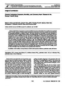 Original Contribution Chronic Particulate Exposure ... - Semantic Scholar
