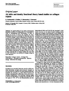 Original paper Ab initio and density functional theory ...
