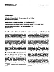Original Paper Micellar Electrokinetic Chromatography ... - Springer Link