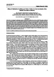 Original Research Article Effects of Disinfection ...