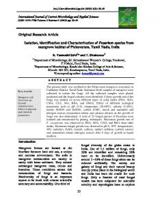 Original Research Article Isolation, identification and Characterization