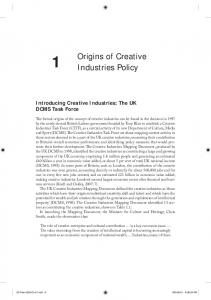 Origins of Creative Industries Policy