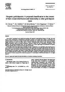 Orogenic gold deposits: A proposed classification in the context of ...
