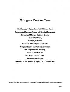 Orthogonal Decision Trees - CiteSeerX