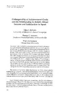 Orthogonality of Achievement Goals and Its ...