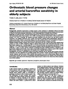 Orthostatic blood pressure changes and arterial ... - Semantic Scholar