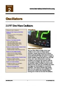 Oscillators 02 - Learn About Electronics