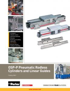 OSP-P Pneumatic Rodless Cylinders and Linear Guides