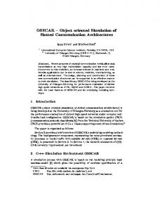 OSSCAR { Object oriented Simulation of Slotted ... - CiteSeerX