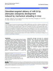 Osteoblast-targeted delivery of miR-33-5p attenuates ... - Nature