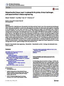 Osteochondral tissue repair in osteoarthritic joints ...