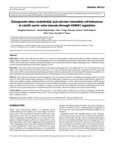 Osteopontin alters endothelial and valvular ... - Oxford Journals