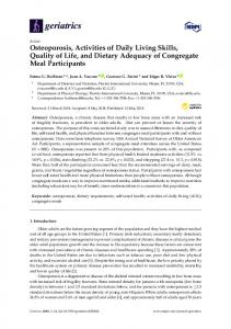 Osteoporosis, Activities of Daily Living Skills, Quality of Life ... - MDPI