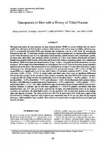 Osteoporosis in men with a history of tibial fracture - Wiley Online Library
