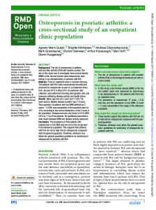 Osteoporosis in psoriatic arthritis: a cross-sectional study of an