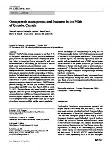 Osteoporosis management and fractures in the ...