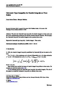 Ostrowski Type Inequality for Double Integrals on Time ... - Springer Link