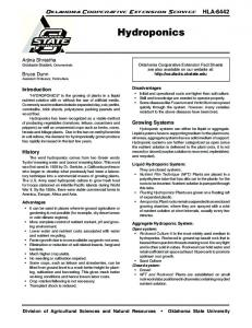 OSU Extension Fact Sheets - Oklahoma State University