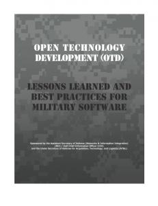 (OTD): Lessons Learned & Best Practices for Military Software