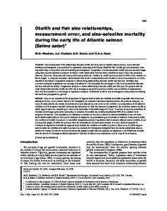 Otolith and fish size relationships, measurement error, and size