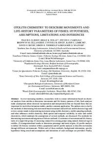 OTOliTh chEMisTRy TO DEscRibE MOvEMENTs AND ... - CiteSeerX