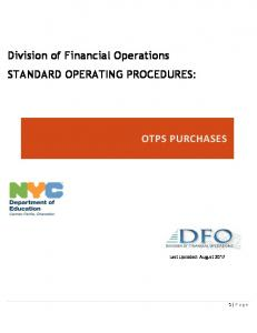 OTPS Purchases - New York City Department of Education - NYC.gov