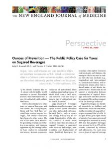 Ounces of Prevention — The Public Policy Case for Taxes on ...