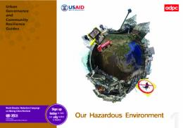 Our Hazardous Environment - Asian Disaster Preparedness Center