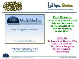 Our Mission Vision - Iqra Juz Amma Multimedia Software