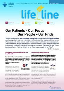 Our Patients - Our Focus Our People - Our Pride - NUH