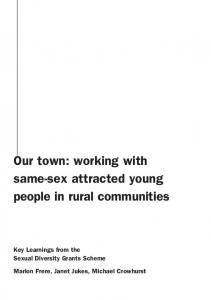 Our Town - Open Doors Youth Service
