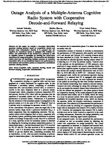 Outage Analysis of a Multiple-Antenna Cognitive ...