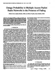 Outage Probability in Multiple Access Packet Radio ... - CiteSeerX