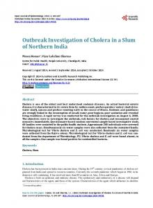 Outbreak Investigation of Cholera in a Slum of ... - Semantic Scholar